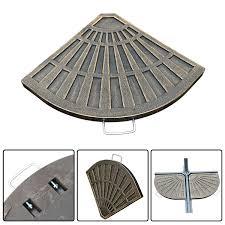outsunny 2pc portable resin umbrella stand flabelliform umbrella base weights