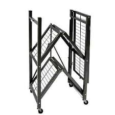 Storage Rack Folding Shelves Wheels Heavy Duty Shelf Garage Office  Organizer New | What's it worth