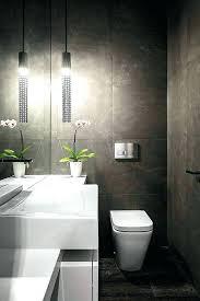 Powder Room Tile Sinks White Glossy