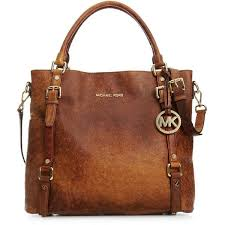 i never tire of big brown bags michael kors handbag bedford ostrich tote now i just need to learn to sew knit handbags michael kors bags
