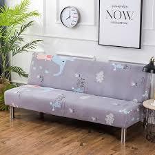160 190cm folding armless seat sofa bed