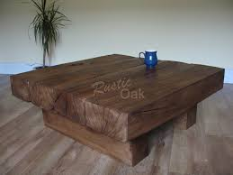 Charming Image Of: Square Rustic Coffee Table Oak Pictures