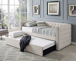 asia direct furniture. Interesting Direct Asia Direct 8612 Suzanne II Collection Beige Tufted Linen Like Fabric  Upholstered Twin Size Day Bed With Trundle Intended Furniture
