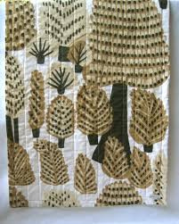 Marimekko organic baby quilt / pine forest dwellers / eco friendly ... & Marimekko organic baby quilt / pine forest dwellers / eco friendly mod kids  scandinavian-inspired Adamdwight.com