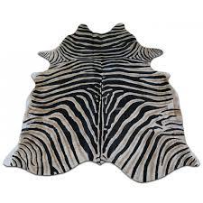 zebra cowhide rug genuine zebra print cow hide rugs 7 5