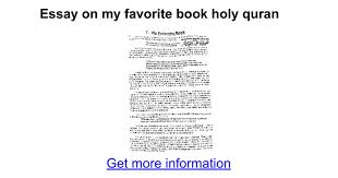 essay on my favorite book holy quran google docs