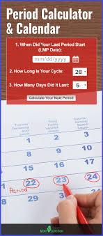 Reliable Menstrual Period Calculator Calendar Period