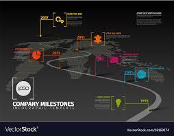 Timeline Milestones Company Milestones Timeline Template Royalty Free Vector