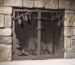 fire screen mesh fireplace screens doors and tools
