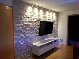 Wandgestaltung Wohnzimmer Kunststein