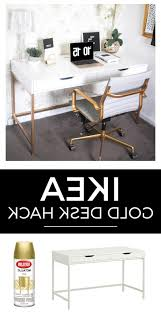 cheap home office. Cheap Home Office Decorating Ideas White And Gold Desk Ikea Hack