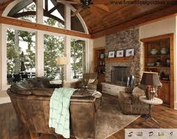 wooden furniture living room designs. Wood And Stone Rustic Style In The Living Of Countryside House Wooden Furniture Room Designs