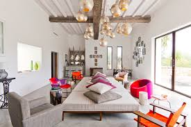 bright pendant lights look other metro eclectic living room inspiration with alter armchairs beams bright colors alter lighting