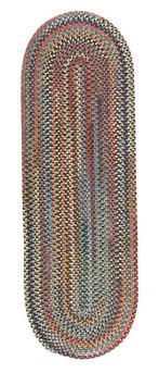 colonial mills rustica country braided 100 wool oval rug multi 2 x 8
