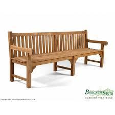 queensbury 6 seater 8ft teak garden bench