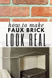 how to make faux brick panels look like