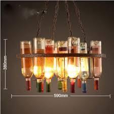 Nordic Retro Industrie Wind Kronleuchter Farbe Glas Flasche