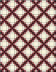 Irish Chain Quilt Pattern: Single, Double and Triple Irish Chain ... & Double Irish Chain Quilt Adamdwight.com