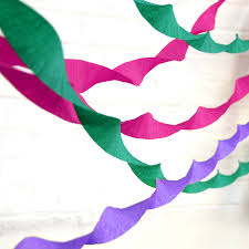 crepe paper streamer party decoration