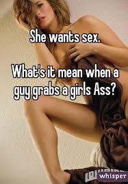 Guy grabs girl sex
