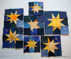 Quilts of a Feather: Seeing Stars & After the whole rethinking of this newly renamed Starry Night quilt, I  decided starting with the stars would be good. Wonky stars are always fun! Adamdwight.com