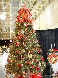 christmas trees decorated in red and gold. Simple And Red Silver And Gold Christmas Tree And Trees Decorated In Red I