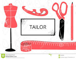 Tailors Visiting Card Design Fashion Design Vector Illustration Stock Vector
