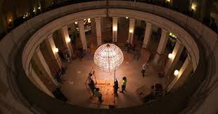 capitol building has been home to the iconic crystal chandelier for more than 85 years