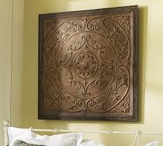 Embossed Tiles Wall Decor Inexpensive Art Ideas Ceiling Ceiling tiles and Barn 1