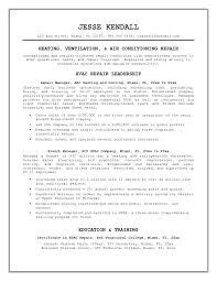 Hvac Resume Examples Installer Resume Best Ways Technician Format