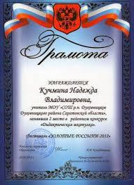 cайт учителя русского языка и литературы Мои достижения Грамота