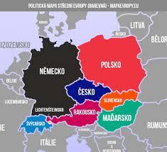 Mapa střední Evropy - politická a slepá   MapaEvropy.eu