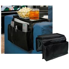 5 pocket sofa arm rest organizer caddy couch tray remote control holder table walmart