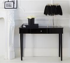 beaut mystique black glass console table venetian style