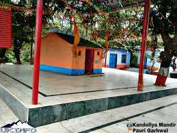 Image result for kandoliya temple pauri garhwal