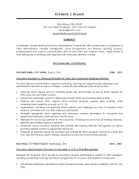 Personal Assistant To Ceo Resume Fascinating Sample Resume Executive Personal assistant About 1