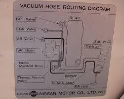 1987 nissan d21 vacuum diagram vehiclepad vacuum line coming off of aiv cut valve