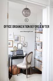 Office Organization Organizing A Home Office Before After The Everygirl