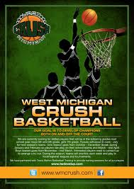 Bold, Modern, Training Flyer Design For West Michigan Crush ...