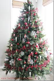 Tradition With A Red And White Christmas Tree Setting For Four Prepare 10
