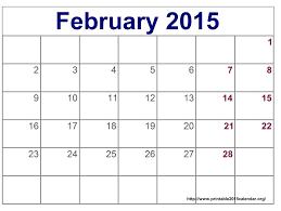 Printable Calendars February 2015 Skachaj Info