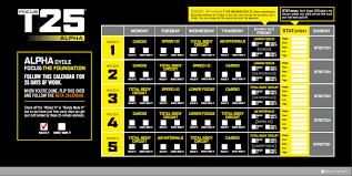 t25 alpha workout calendar