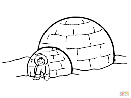Small Picture Igloo coloring page Free Printable Coloring Pages