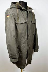 German Army Jacket Size Chart Authentic German Army Olive Parka Military Coat Jacket