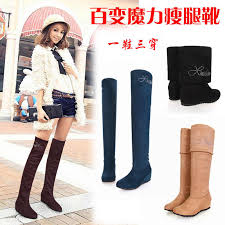 <b>2015 New</b> Fashion <b>Women's</b> High Heeled <b>Shoes</b> Tall Knee Length ...