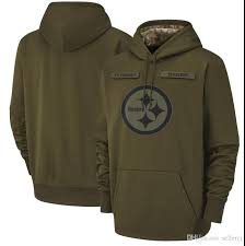 2019 Men Women Youth Pittsburghsteelers Sweatshirt Salute To Service Sideline Therma Performance Pullover Nflhoodie Olive