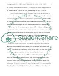 necklace short story summary the necklace summary  the necklace by guy de maupassant essay example topics