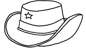 Cowboy Hat Coloring Page 4 12474