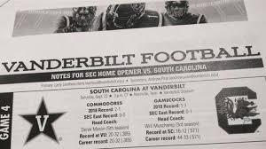 Carolina Depth Chart 2018 Vandy Unveils Official Depth Chart For Week 4 Vs South
