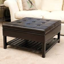 medium size of coffee table ottoman round leather tufted blue black storage cowhide brown le